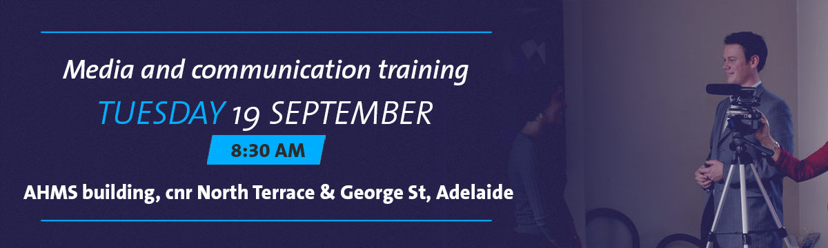 Media and communication training banner