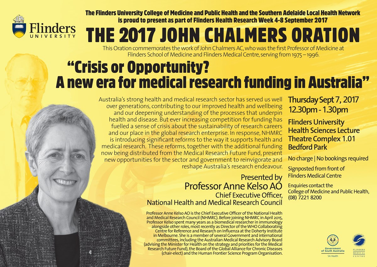 John Chalmers Oration 2017 banner