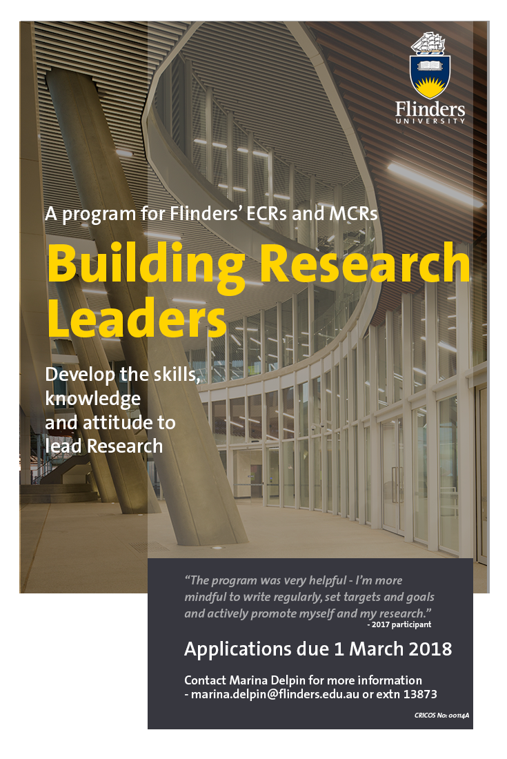 Building Research Leaders flyer 2018