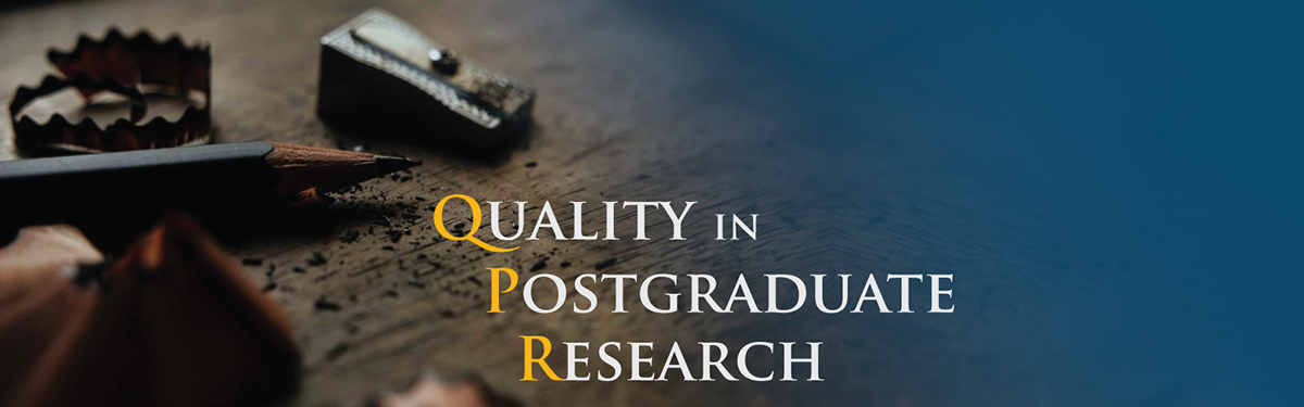 Quality in Postgraduate Research banner