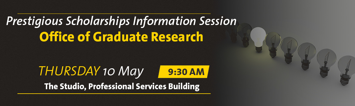 Prestigious Scholarships Information Session banner