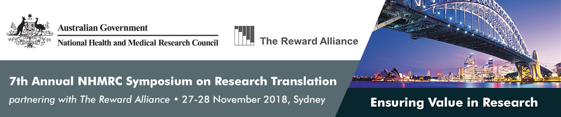 NHMRC Symposium on Research Translation banner