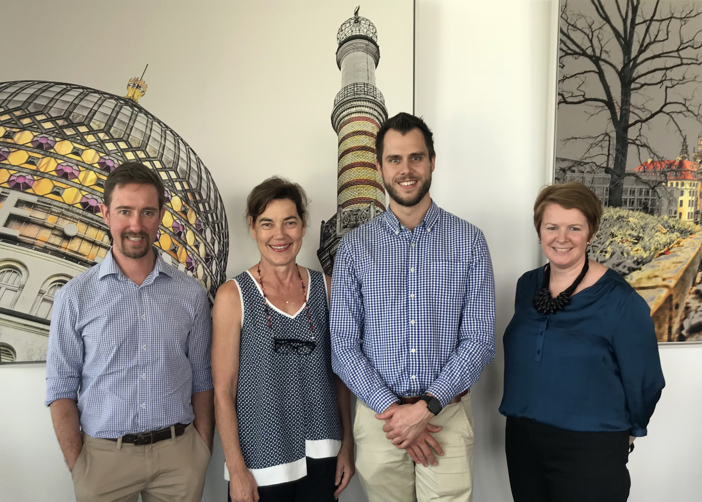 Dr Andrew Vakulin, Dr Lynda Norton, Robert Trott, and Dr Sinead O'Connell (left to right)