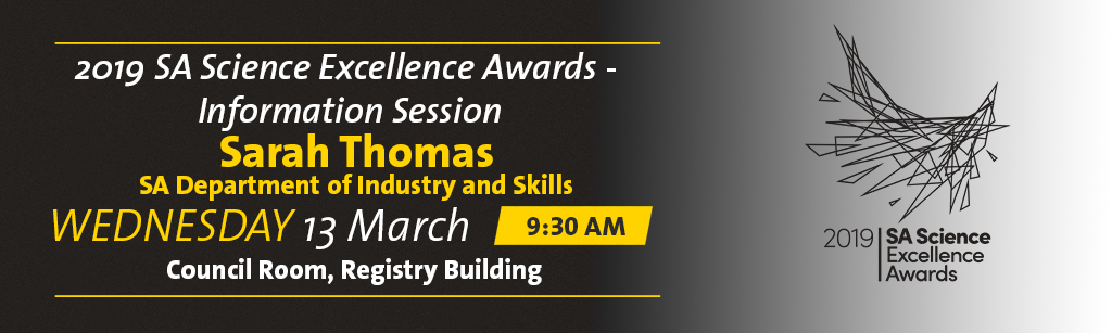 2019 SA Science Excellence Awards banner