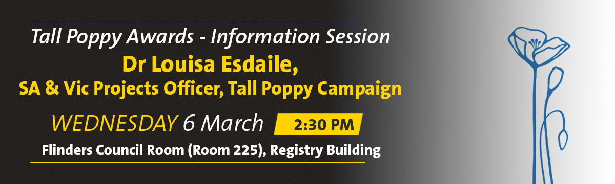 Tall Poppy Information Session banner