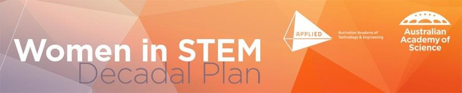 Women in STEM decadal plan banner