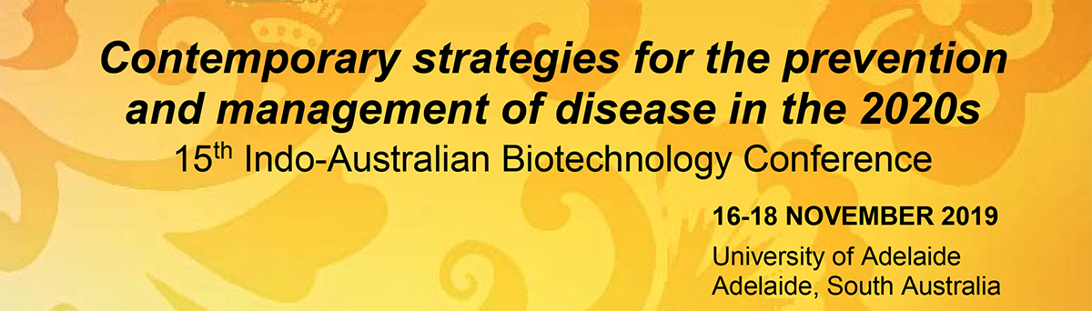 15th Indo Aus Biotech conference banner