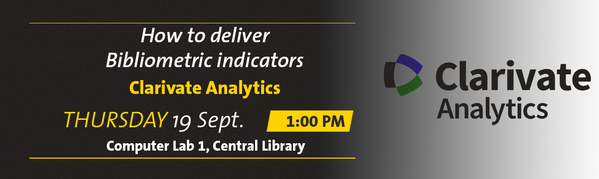 Event Banner for Clarivate Analytics sessions