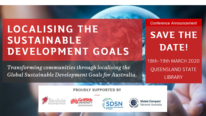 Localising the sustainable development goals conference banner