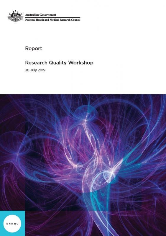 Research Quality Workshop report